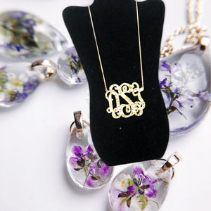 "tanya-sopretty - Avery Gold Sparkle Monogram Necklace 3"" - Necklace"