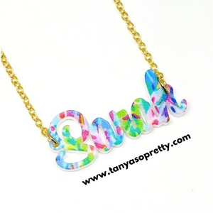 tanya-sopretty - Avalon Printed Name Plate Necklaces - Necklace