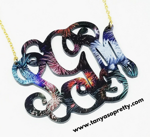 tanya-sopretty - Avery Fireworks Monogram Necklace - Necklace