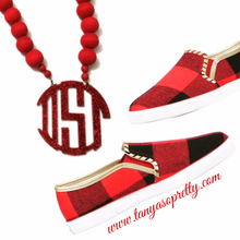 Load image into Gallery viewer, Your Custom Preppy Monogram Necklace Gift Ideas 3.7""