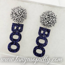 Load image into Gallery viewer, Pom Pom Spirit Earrings Navy Pearl