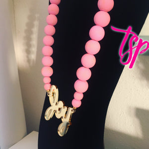 Oversized Texas Charm XXL Monogram Necklace
