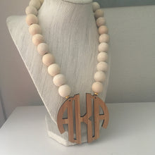 "Load image into Gallery viewer, tanya-sopretty - Naturally Bamboo Monogram Necklace 2.5"" - Necklace"