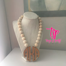 Load image into Gallery viewer, Naturally Bamboo Monogram Necklace 2.5""