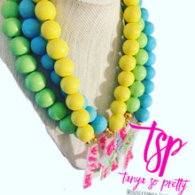 Load image into Gallery viewer, tanya-sopretty - Single Initial Bright Yellow Monogram Necklace - Necklace