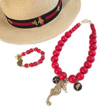 Load image into Gallery viewer, tanya-sopretty - Red Seahorse Derby Necklace - Necklace