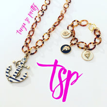 Load image into Gallery viewer, Nautical Anchor Tortoiseshell Necklace