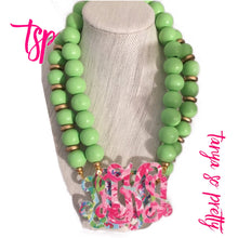 Load image into Gallery viewer, tanya-sopretty - Lime Garden Monogram Necklace - Necklace