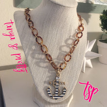 Load image into Gallery viewer, tanya-sopretty - Nautical Anchor Tortoiseshell Necklace - Necklace