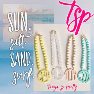 "tanya-sopretty - Sunny Days Block Monogram Necklace 3"" - Necklace"