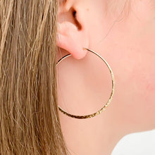 Load image into Gallery viewer, Large-gold-hoop-earrings