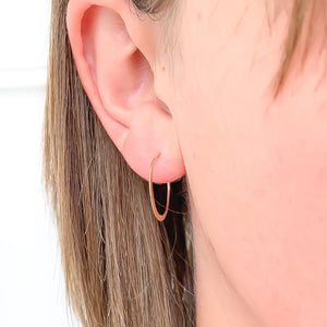 20mm Hammered Hoops