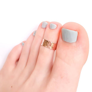 Hammered Toe Ring