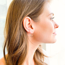 Load image into Gallery viewer, Spiral Hammered Earrings