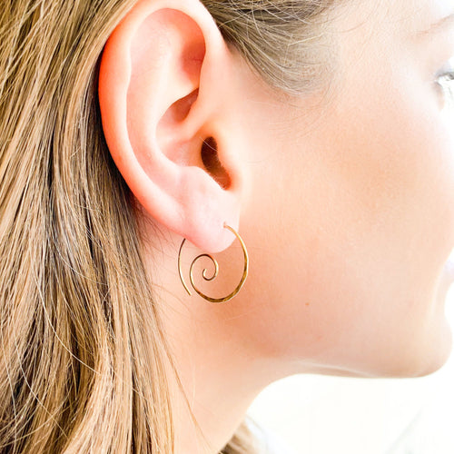 Spiral Hammered Earrings