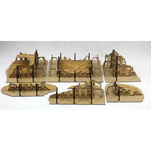 T4G Gothic Ruined CITY Set 28mm