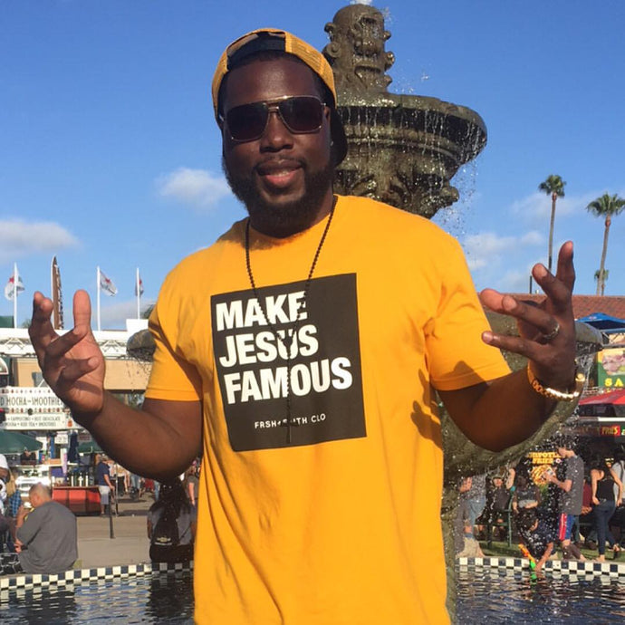 Expect more conversations in public with Make Jesus Famous merchandise.