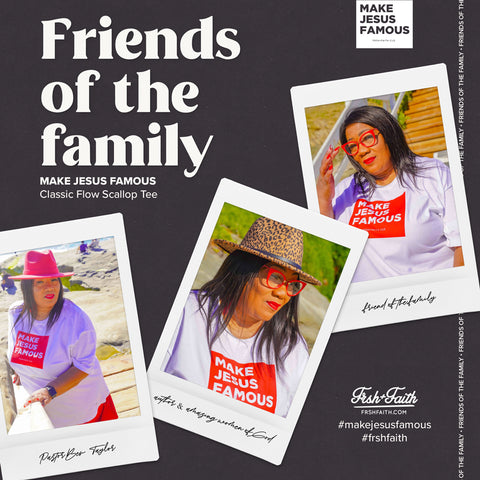 Friends of the Family / MFL Classic Flow Scallop Tee Red
