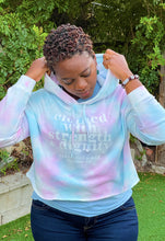 Load image into Gallery viewer, FrshFaith Clothed with Strength & Dignity Blessings to Her Cotton Candy Cropped Hoodie