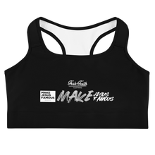 Load image into Gallery viewer, MJF Black Sports Bra