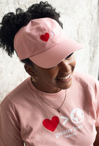 Greater Love Pink Dad Hat