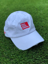 Load image into Gallery viewer, White MJF Dad Hat