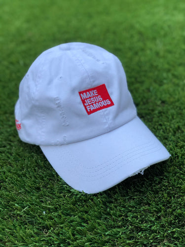 White MJF Dad Hat