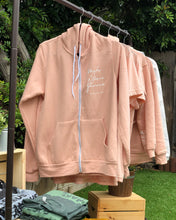 Load image into Gallery viewer, MJF Script Peach Zip Hoodie