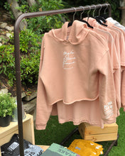 Load image into Gallery viewer, MJF Scripted Peach Crop Hoodie