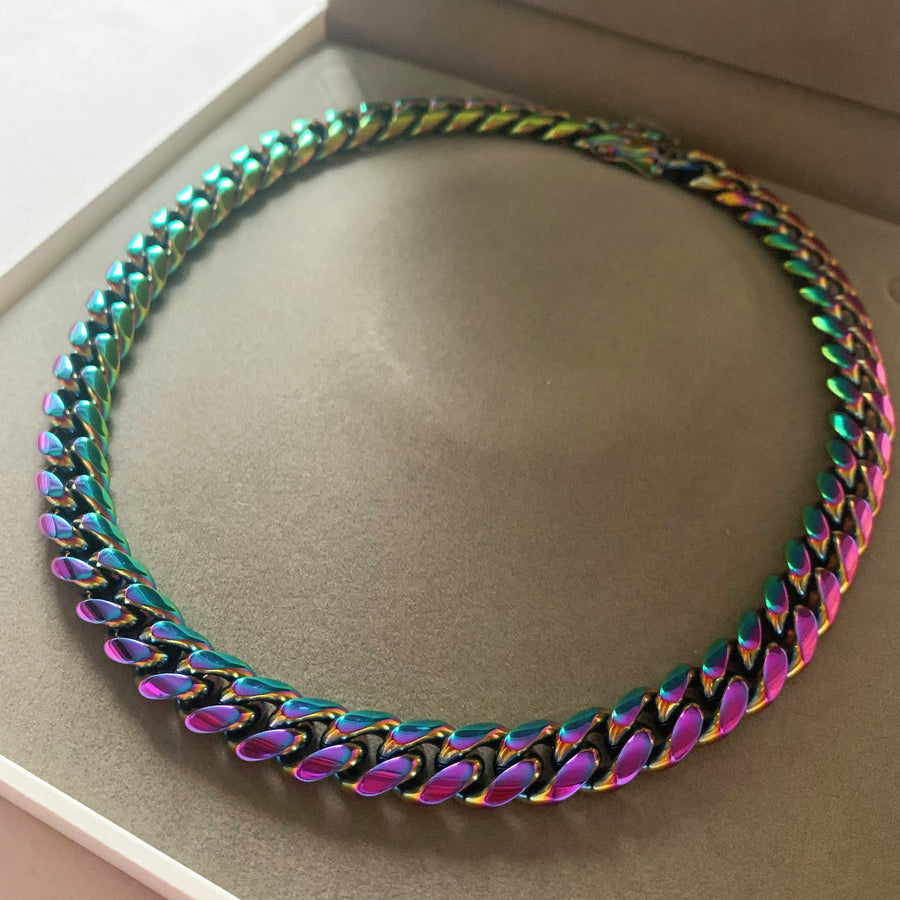 Lori Cuban Link Chain (Rainbow)
