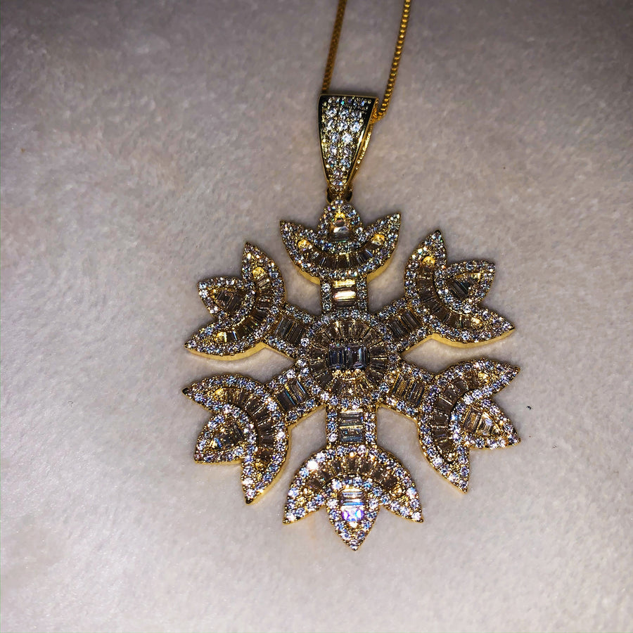 Snowflake Necklace (Gold)