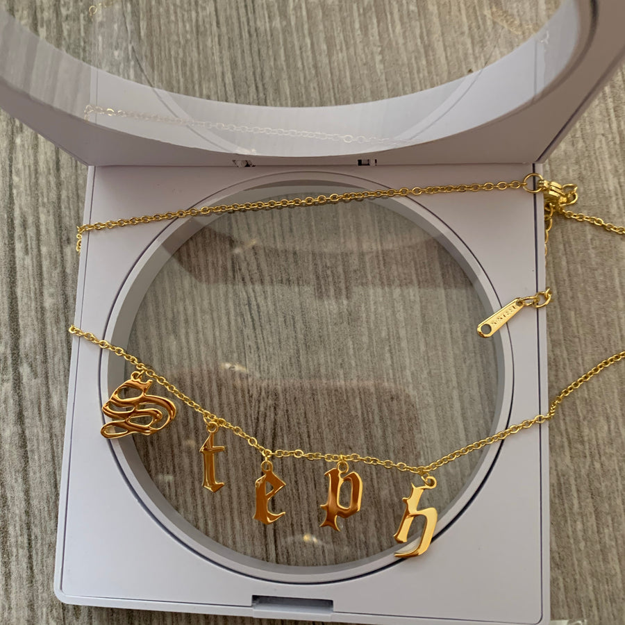 Kourtney Personalised Necklace (Gold) *Pre Order*