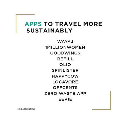 Apps to Travel More Sustainably