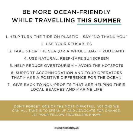 Be More Ocean-Friendly While Travelling This Summer
