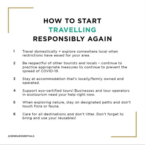 How to start travelling sustainably again