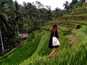 Rice Fields Ubud, Bali. Senda Tote Bag. Be Part of the Solution