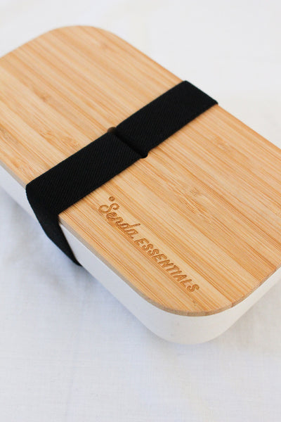 BAMBOO LUNCHBOX BENTO BOX STAINLESS STEEL LUNCHBOX  Senda Essentials