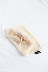 COTTON MESH BAG PRODUCE BAG PLASTIC FREE ZERO WASTE Senda Essentials plastic bag rPET bag