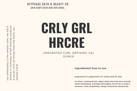Curly Girl Hair Care - Unscented Curl Defining Gel