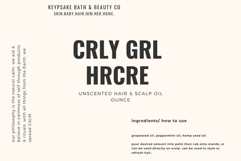 Curly Girl Hair Care - Unscented Hair & Scalp Oil