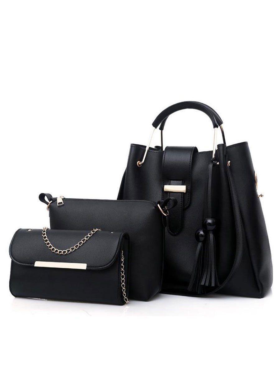 f1ffd507f6d5 New Style Two Pieces Plain Shoulder Bag – wakikoo