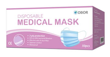 OBOR® 3-PLY DISPOSABLE MEDICAL MASKS