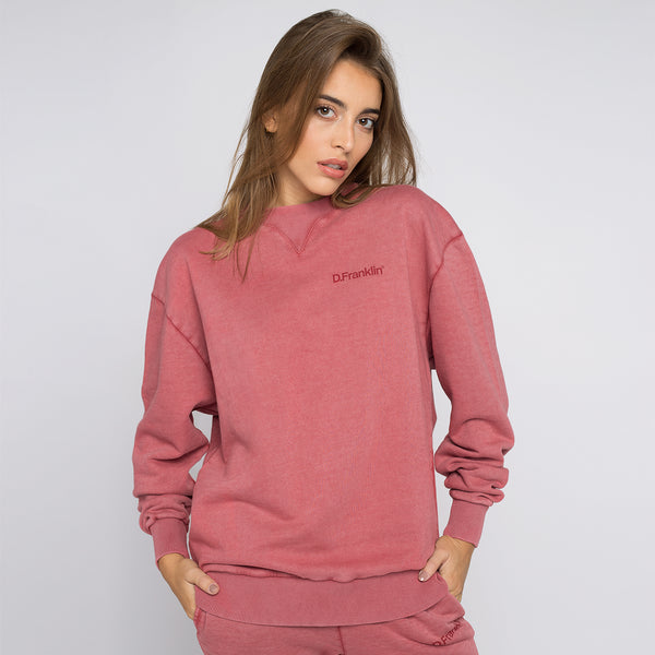 Sweatshirt Oversized Basic Bordeaux