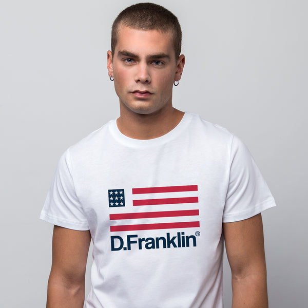 D.Franklin Flag White