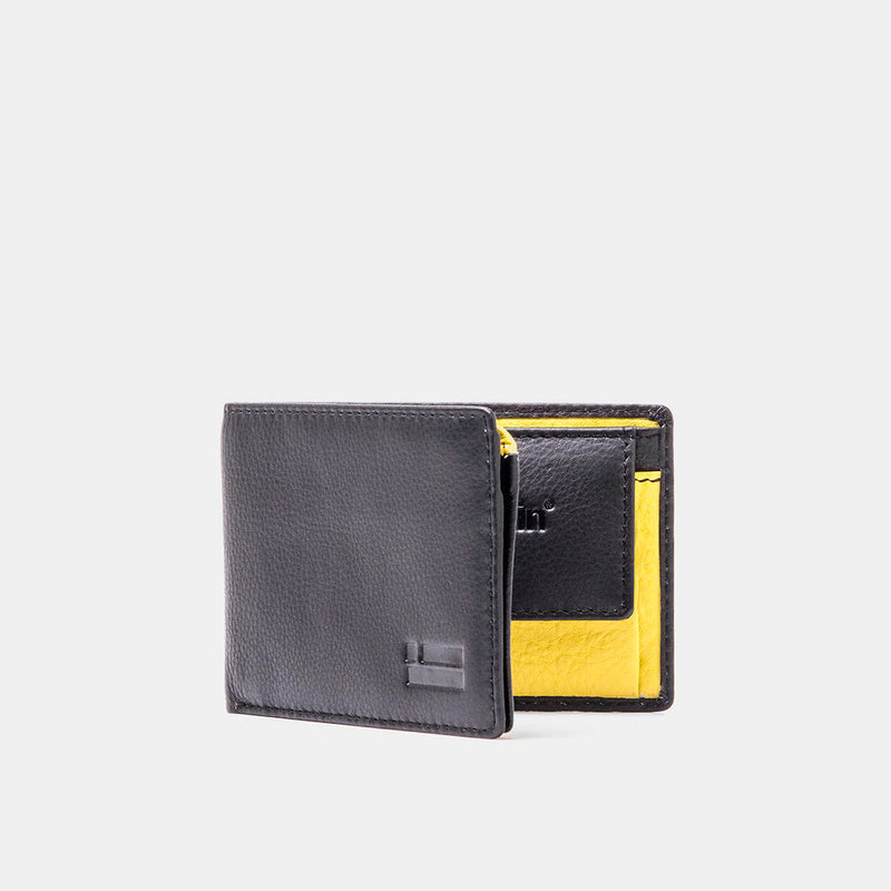 Black / Yellow Leather Wallet