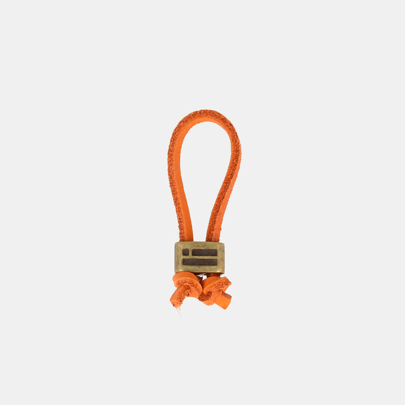 Keychain Magnum Leather Orange/Gold