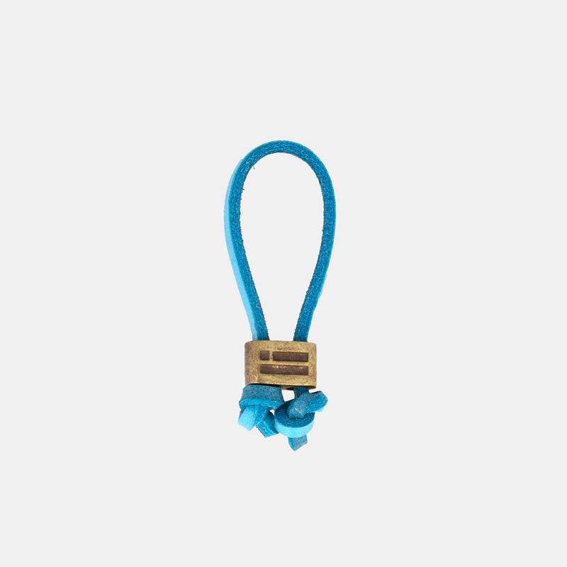Keychain Magnum Leather Sky Blue/Gold