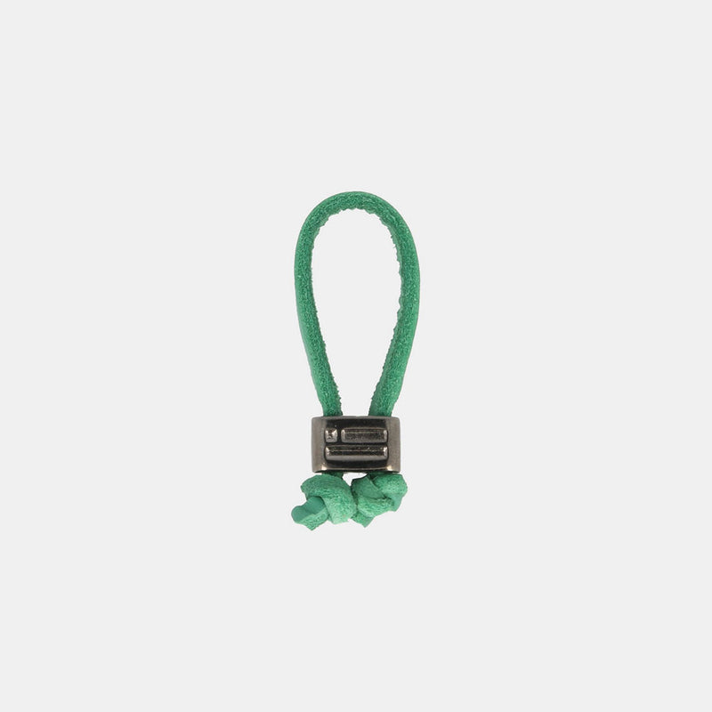 Keychain Jeroboam Leather Green/Metal