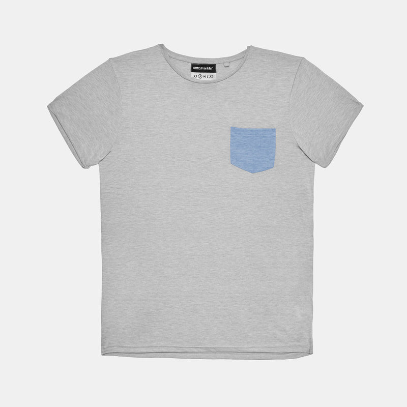 Pocket Grey / Blue Tee