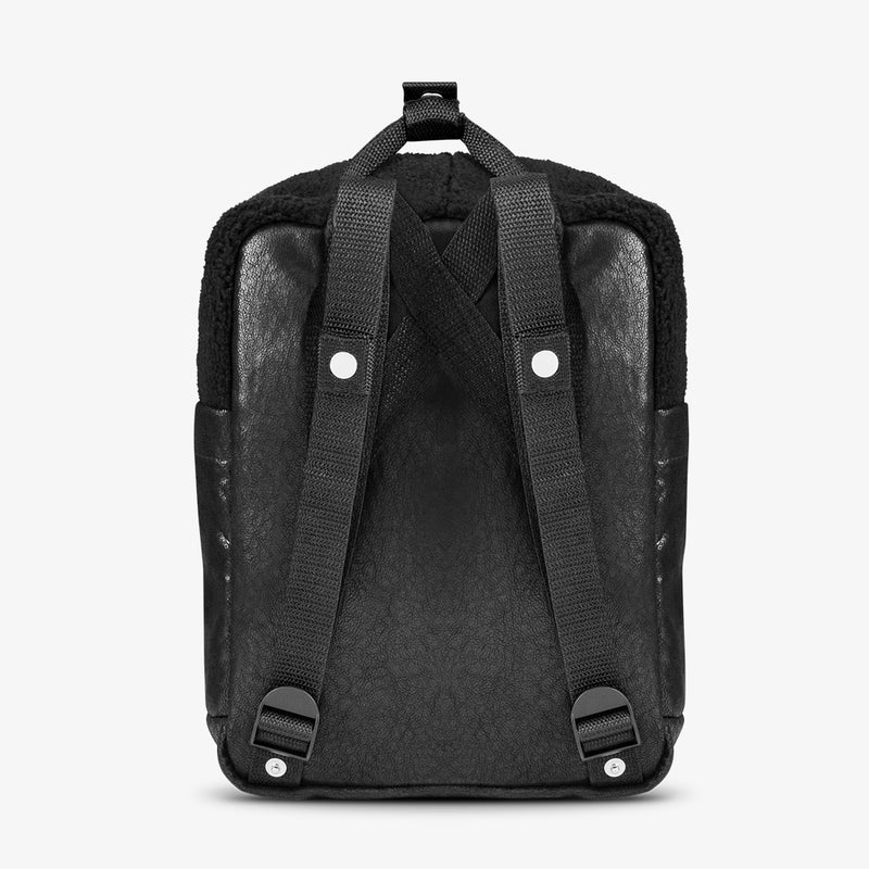 Abby Backpack Fleece Black / Black